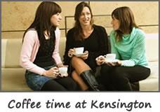Coffee time at Kensington