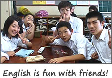 English is fun with friends!